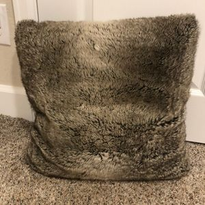 Pottery barn down fur pillow